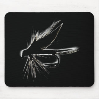 Wet Fly Silhouette Mouse Pad