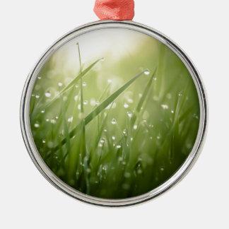 wet grass christmas ornament