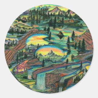 Wet N' Wild Round Sticker