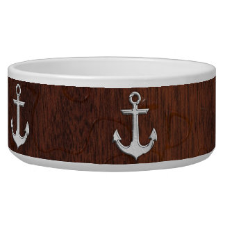 Wet Nautical Mahogany Anchor Steel