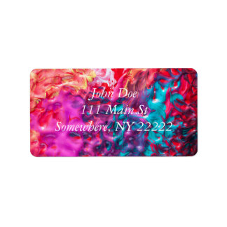 Wet Paint Abstract Address Label