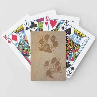Wet Paw Prints Bicycle Playing Cards