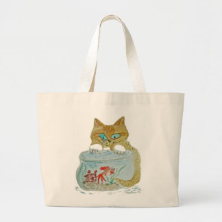 Wet Paws - Kitten get Away from the Goldfish Canvas Bag
