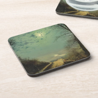 Wet Road By Moonlight Wharfedale by John Grimshaw Drink Coasters