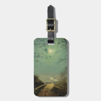 Wet Road By Moonlight Wharfedale by John Grimshaw Tags For Luggage