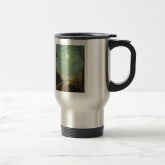 Wet Road By Moonlight, Wharfedale by John Grimshaw Coffee Mug