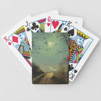 Wet Road By Moonlight Wharfedale by John Grimshaw Bicycle Poker Deck