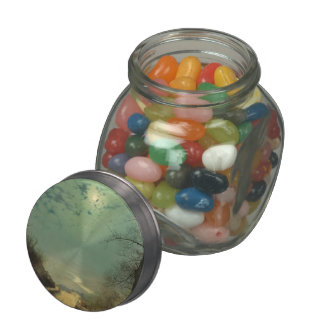 Wet Road By Moonlight, Wharfedale by John Grimshaw Jelly Belly Candy Jar