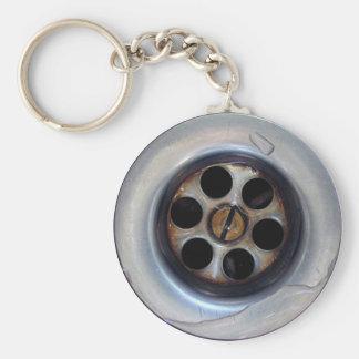 Wet Sink Drain Basic Round Button Key Ring
