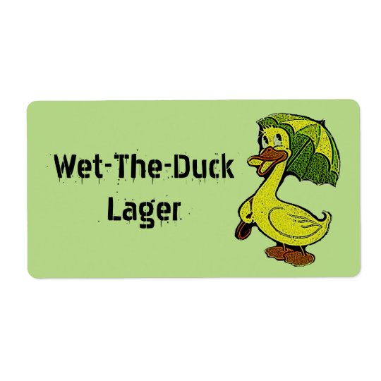 Wet The Duck Wet-the-duck Beer Gifting Labels