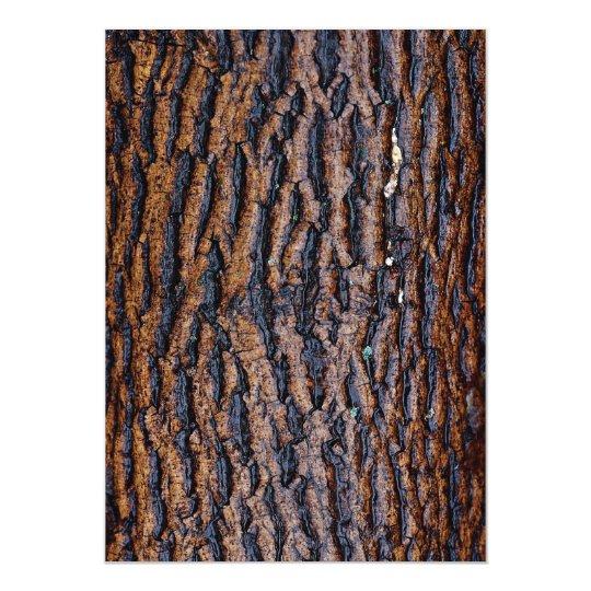 Wet tree bark card