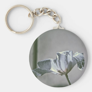 Wet Tulip Infrared Basic Round Button Key Ring