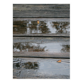 Wet Wood with puddles background image Postcards