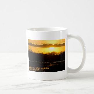 Wetland Gold Basic White Mug