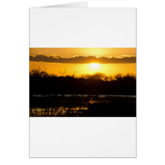 Wetland Gold Greeting Card