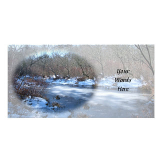 Wetland Ponds in Winter Customised Photo Card