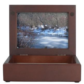 Wetland Ponds in Winter Keepsake Boxes