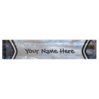 Wetland Ponds in Winter Name Plate