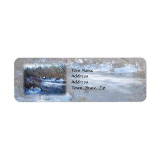 Wetland Ponds in Winter Return Address Label