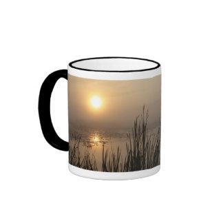 Wetland Sunrise Ringer Coffee Mug
