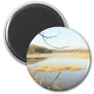 Wetland Wonderland 6 Cm Round Magnet