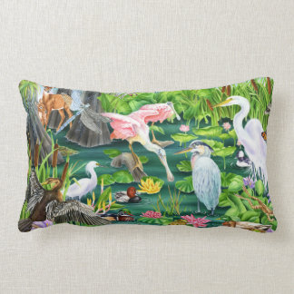 Wetland Wonders Lumbar Pillow