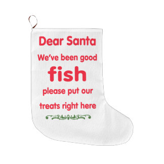 We've been good fish large christmas stocking