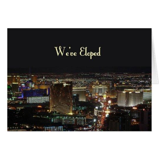 We've Eloped   Las Vegas Announcement Card