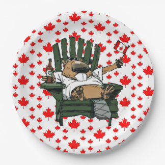 We've Got Spirit Canada Day Party Paper Plates 9 Inch Paper Plate