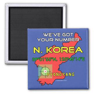 We've Got Your Number North Korea Fridge Magnets