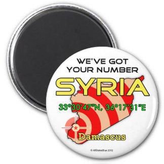 We've Got Your Number Syria Refrigerator Magnet