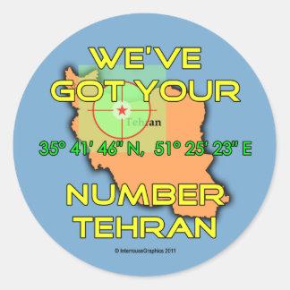 We've Got Your Number Tehran Sticker