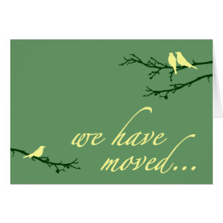 we've moved announcement note card