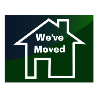 We've Moved Announcement of New Home Card Postcard