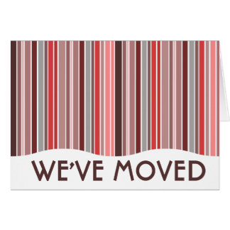 we've moved announcement stationery note card