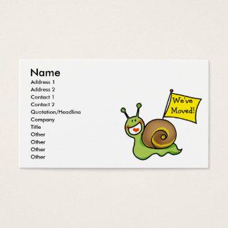 We've Moved! Business Card