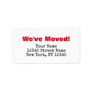 We've moved change of address labels for new home