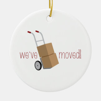 We've Moved! Christmas Ornament