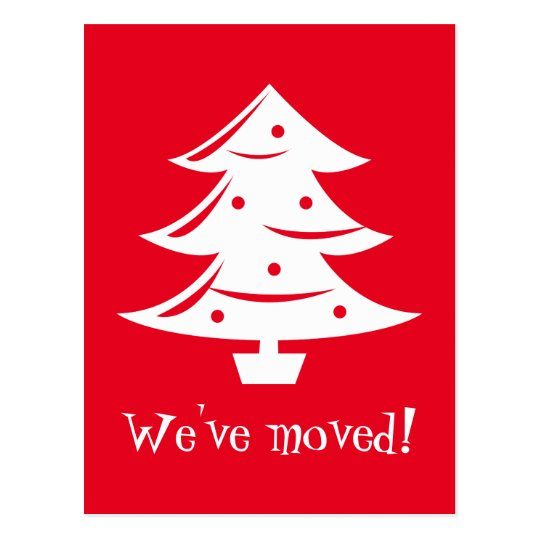 We've moved Christmas postcards for new address