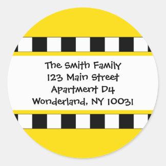 We've Moved Cityscape Address Label