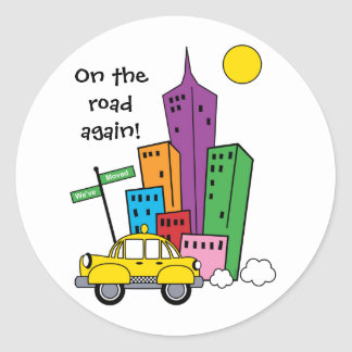 We've Moved Cityscape - Sticker