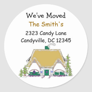 We've Moved Classic Round Sticker