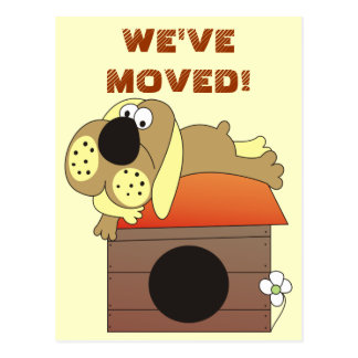 We've Moved! Cute Dog Postcards