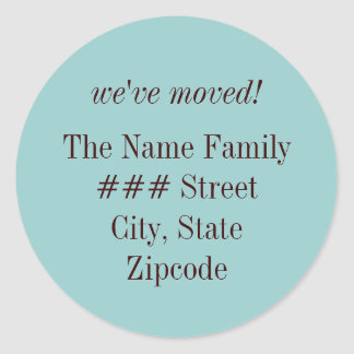 we've moved! family return address label
