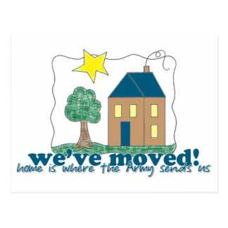 We've moved... home is where the Army sends us Postcard