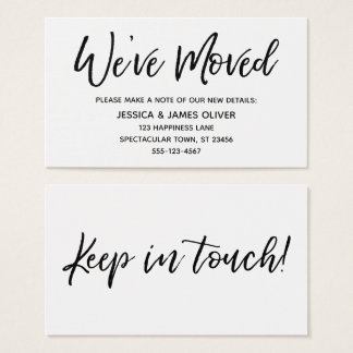 """We've Moved"" Modern Handwriting Typography Card"