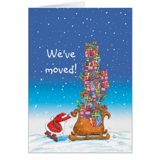 We've moved - Moving Announcement for the Holidays