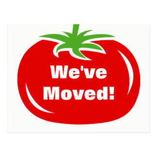 We've moved new address red tomato moving postcard