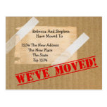 We've Moved New Home CardBoard Box (printed flat) Postcards