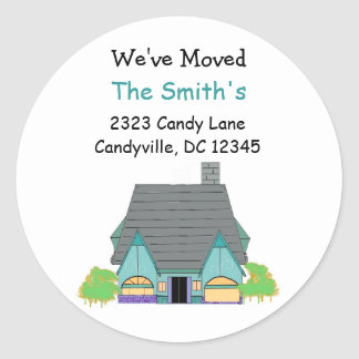 We've Moved New Home Round Sticker